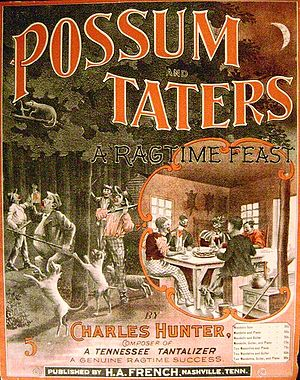 English: Possum and Taters, 1900 Français : Po...