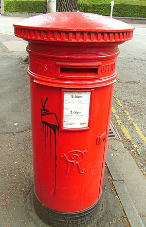 West Grove (Cardiff) - The Victorian listed post box