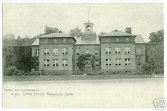 Naugatuck, Connecticut - Salem School, from a 1905 postcard