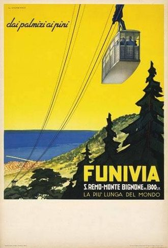 Sanremo - Sanremo cable car advertising, 1937