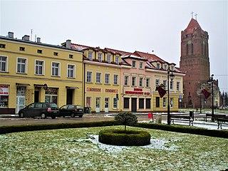 Prabuty Place in Pomeranian Voivodeship, Poland