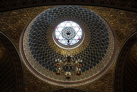Dome of the Spanish Synagogue in Prague, Czech Republic