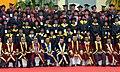 Pranab Mukherjee presenting with the students at the 4th Annual Convocation of Indian Institute of Management (IIM) Raipur, at Raipur, Chhattisgarh. The Governor of Chhattisgarh, Shri Balram Das Tandon.jpg
