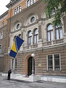 Building of the Presidency of Bosnia and Herzegovina in 2004