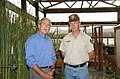 President George Bush, left, with Ralph Waycott, volunteer coordinator for the Rancho Sierra Vista Nursery, during Presidential visit to the Santa Monica Mountains National Recreati - DPLA - 1b85fe2043be30d68d787c94808ddcee.jpg