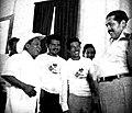President of El Salvador Artuto Armando Molina (1972) with representatives of indigetives communities. on the left Adrian Esquino Lisco.jpg