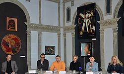Press conference about 56 Venice Biennale in Contemporary Art Center, Minsk 21.01.2015 02.JPG
