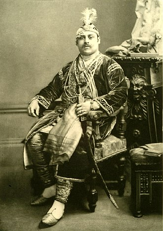 Victor Duleep Singh - Photograph of Victor as Emperor Akbar of India taken at the Devonshire House Ball by Alexander Bassano in 1897.
