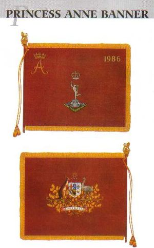 Royal Australian Corps of Signals - The Princess Anne Banner