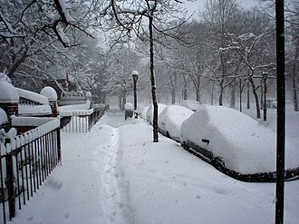 North American blizzard of 2006 - Prospect Heights, Brooklyn on February 12.