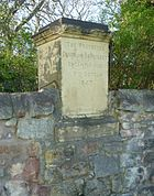 Protector Somerset marker stone at Pinkie, Musselburgh