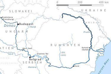 граница Румынии река прут карта