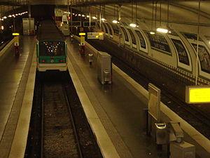 Porte de la Chapelle (Paris Métro) - Image: Pte Chap vueglob