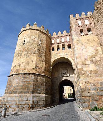 Walls of Segovia - Image: Puerta de San Andrés in Segovia Spain on February 15 2017