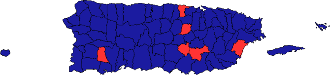 Puerto Rican general election, 2008 map