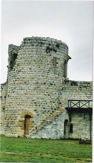 Château de Puivert - One of the towers of Château de Puivert