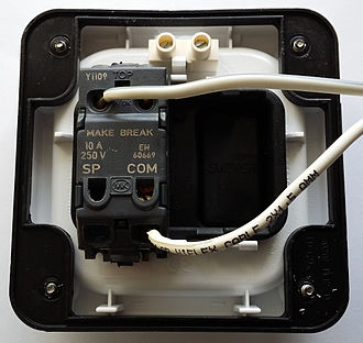 Push switch - Commercially Available Push Switch - Wired up as a Push to Make Switch