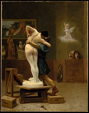 Pygmalion and Galatea (Gérôme painting) - Image: Pygmalion and Galatea MET DT1969