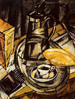 Pyotr Subbotin-Permyak. Still life with rolls and tea-things (1921).jpg