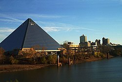 The Pyramid Arena, photographed from Auction Avenue bridge.