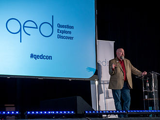 Matt Dillahunty - Dillahunty at QED 2015, a skeptical conference in Manchester.