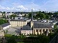 Quartier Grund et église Saint-Jean de Luxembourg (juin 2019).JPG