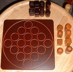 Quarto (board game) - Quarto board at start of game