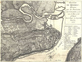 Seth Warner - Quebec as shown in a French map from 1777.
