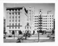 Queensland State Archives 3537 Government Buildings Adelaide St Anzac Park in Foreground Brisbane c 1935.png