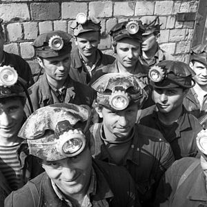 Salihorsk - Workers of the Soligorsk potash plant, 1968