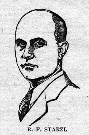 Roman Frederick Starzl - Roman F. Starzl as pictured in Wonder Stories in 1930