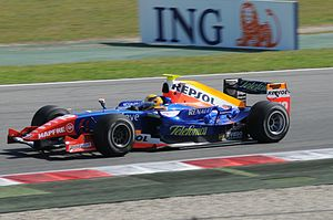Giorgio Pantano - Pantano driving for Racing Engineering in 2008
