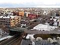 Railroad cut through South Boston, March 2015.JPG