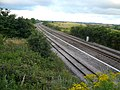 Railway Track - South View from Love Lane Railway Bridge - geograph.org.uk - 495996.jpg