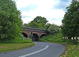 A535 road - Image: Railway crossing the A535 geograph.org.uk 177583