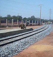 Niger-Liikenne-Railway track Niamey Niger