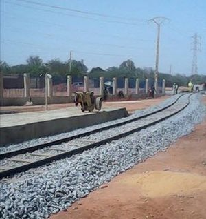 Railway stations in Niger - View of the rail track at the new station of Niamey