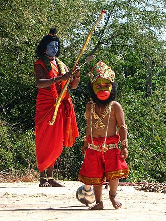 Navaratri - In Northern, Central and Western states of India, the Ramalila play is enacted during Navaratri by rural artists (above).
