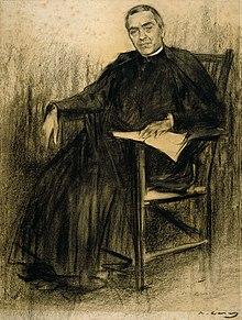 Verdaguer visto por Ramon Casas en 1901 (MNAC)