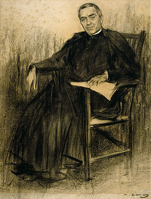 Jacint Verdaguer - Verdaguer as seen by Ramon Casas (MNAC).