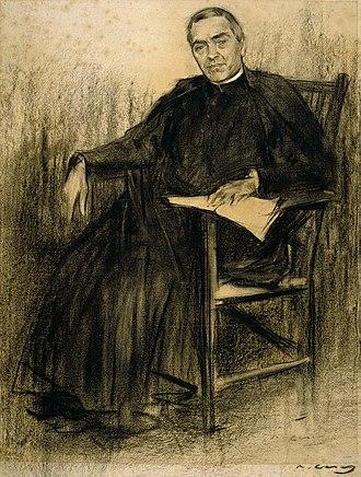 Jacint Verdaguer - Verdaguer as seen by Ramon Casas (MNAC).