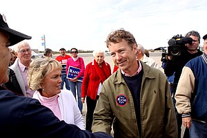 Rand Paul - Rand Paul greeting supporters at Bowman Field in Louisville, Kentucky on November 1, 2010.