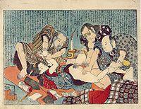 Scène de viol  Utagawa KUNIYOSHI (circa.1797-1861)