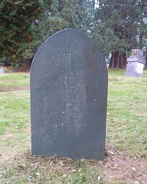 Rebecca West - West's grave in Brookwood Cemetery