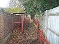 Red Metal fencing on footpath - geograph.org.uk - 1178508.jpg