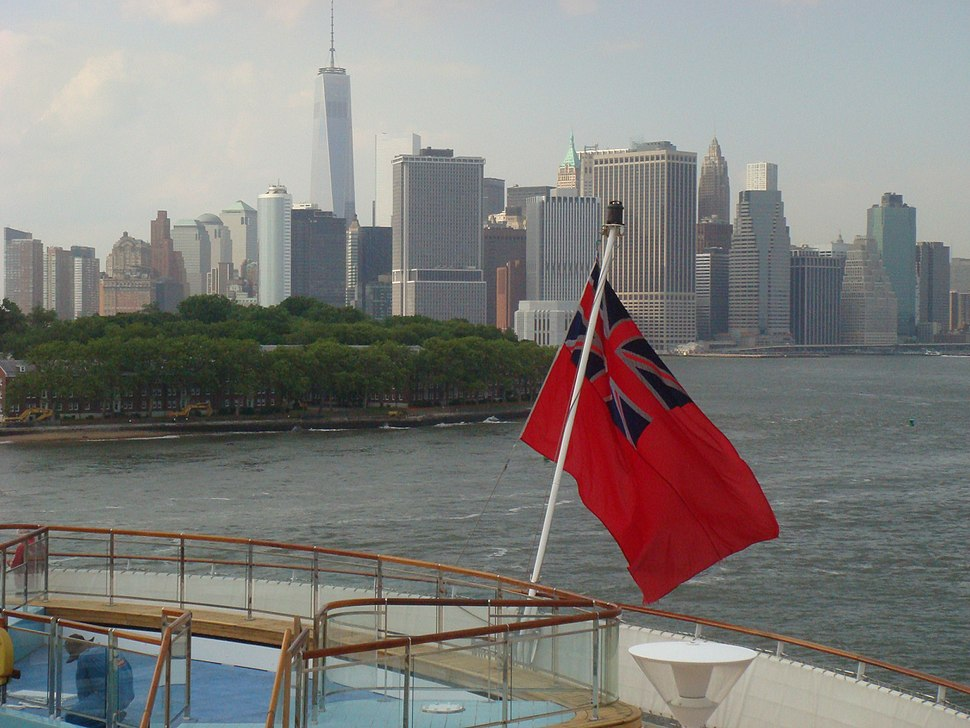 Red ensign QM2 1July2014
