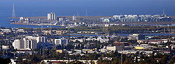 The skyline o dountoun Redwood City