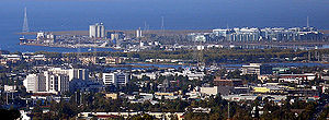 Redwood City, California - The skyline of downtown Redwood City