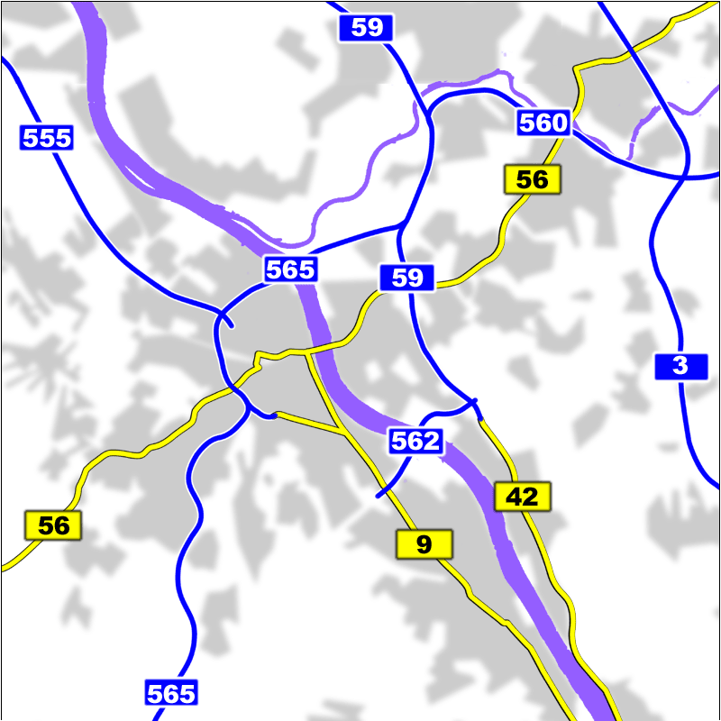 Region Bonn motorways