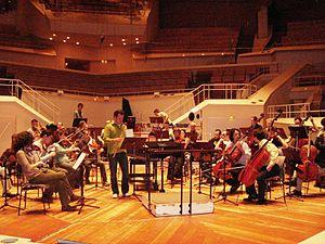 Zoran Erić - Emmanuel Pahud and Camerata Serbica: Rehearsal of Oberon Concerto in Kammermusiksaal der Berliner Philharmoniker